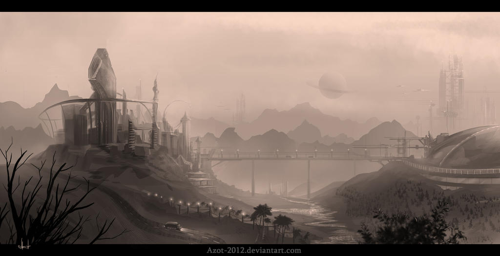 Town sketch by Azot2014