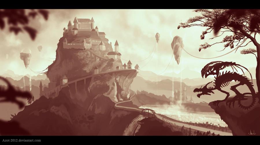 Castle sketch by Azot2016