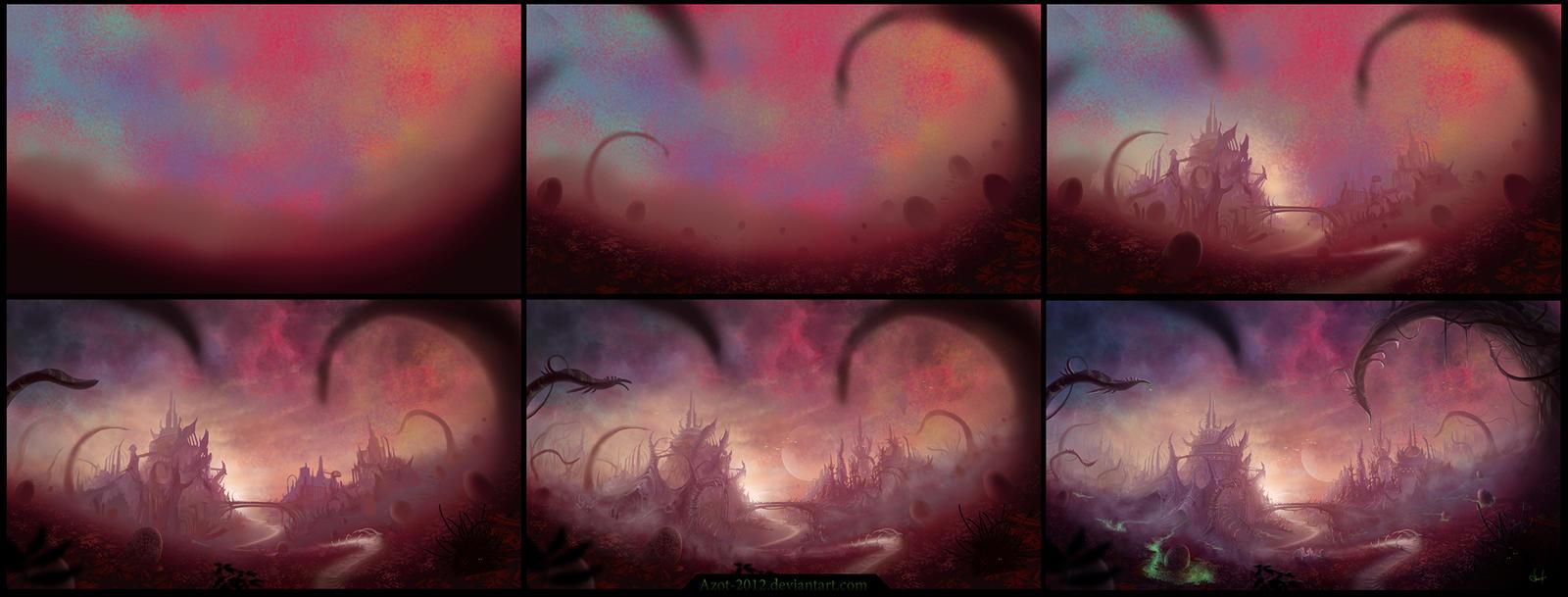 Aliens in process by Azot2015
