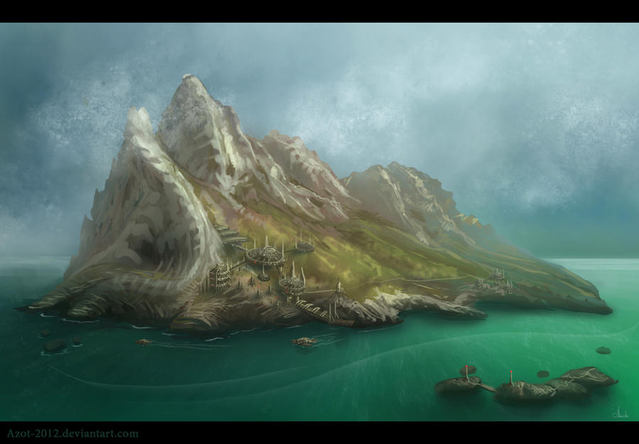 Mountains Speedpaint by Azot2016