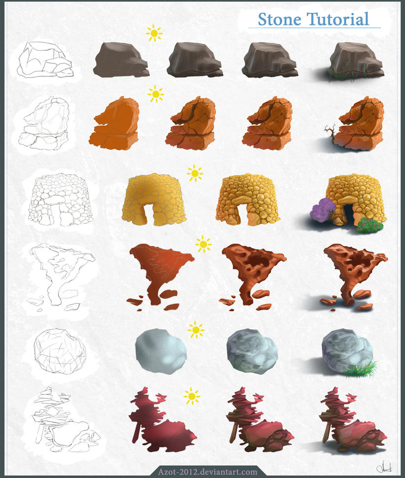 Stone Tutorial by Azot2014