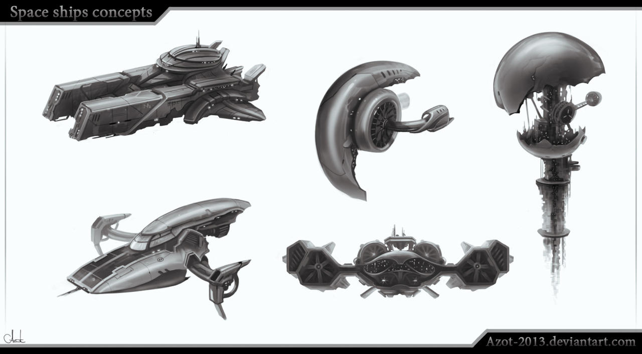 Space Ships concepts by Azot2016