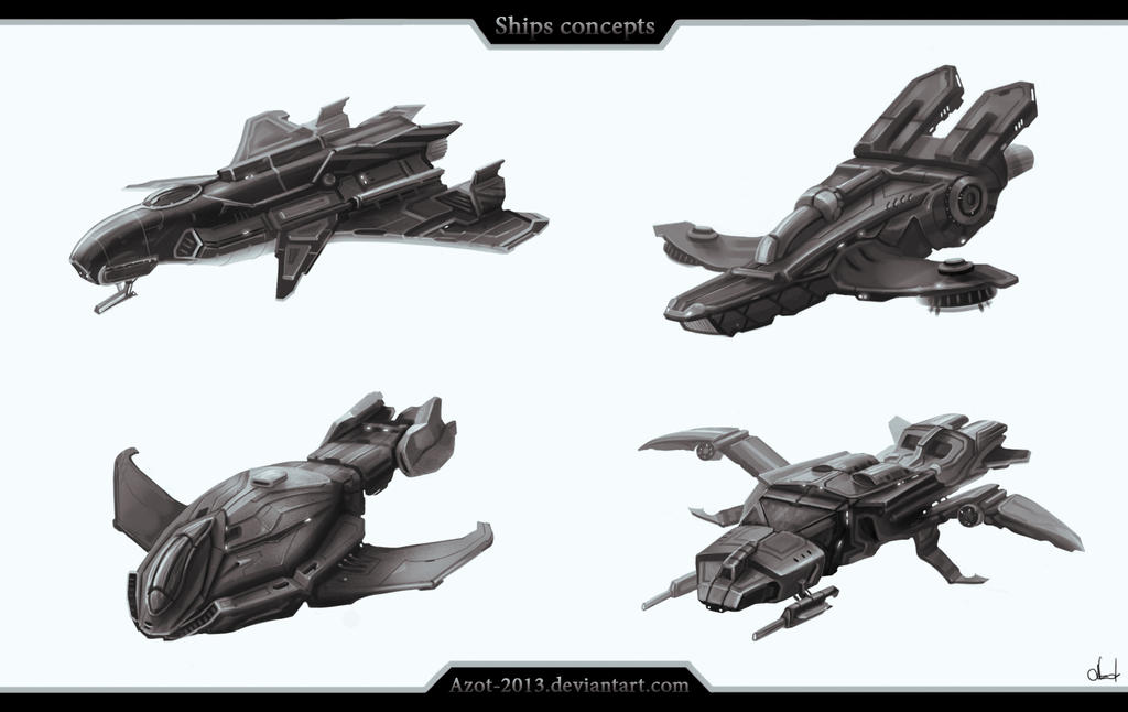 Ships concepts by Azot2015