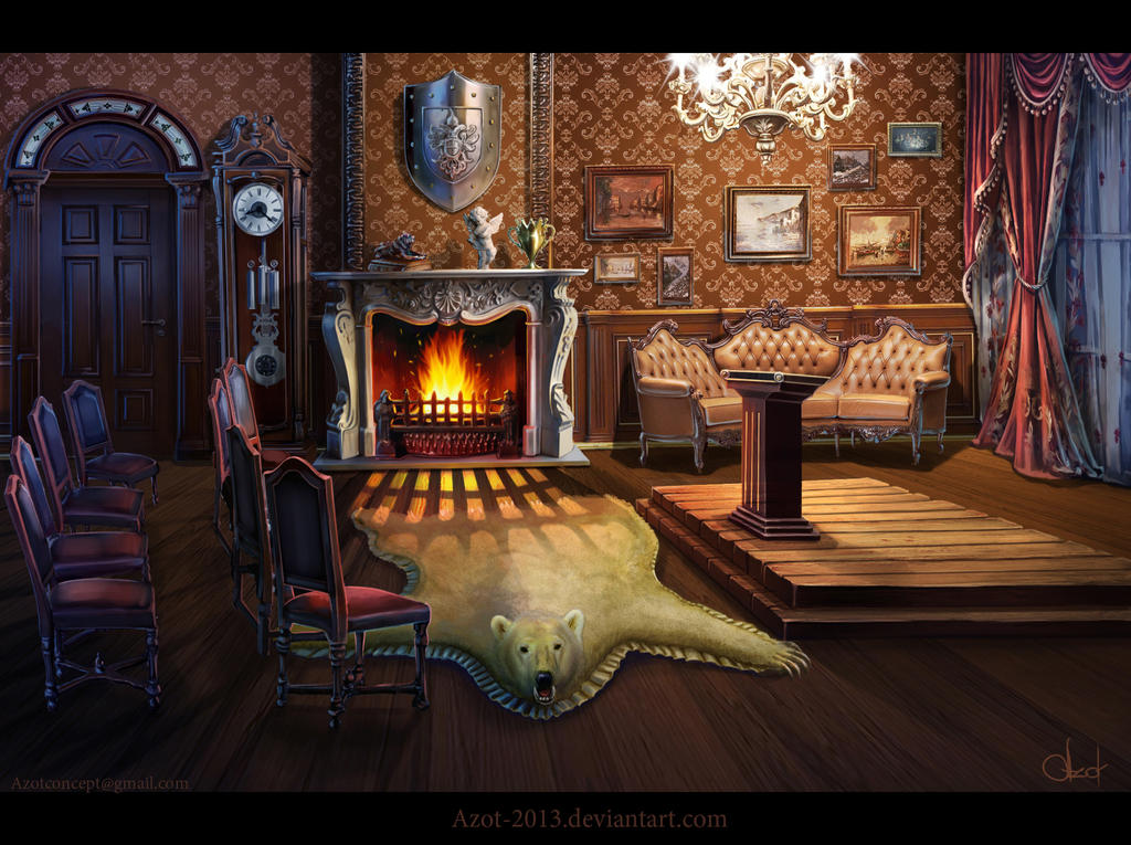 Room in victorian s style by azot2014 on deviantart for Victorian room style