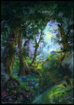 Summer Forest - book cover by Azot2019