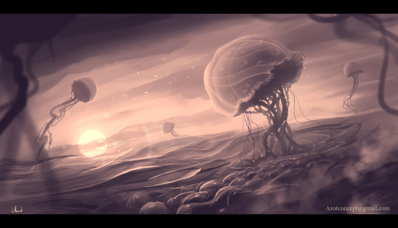 Jellyfish`s Flight by Azot2017
