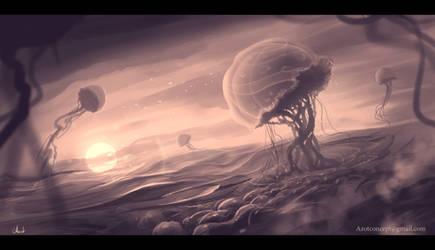 Jellyfish`s Flight by Azot2019