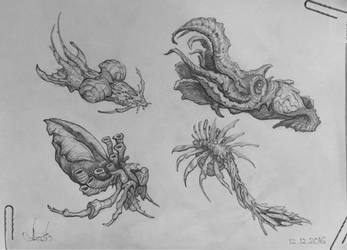 Creature Pencil Sketch #1 by Azot2019