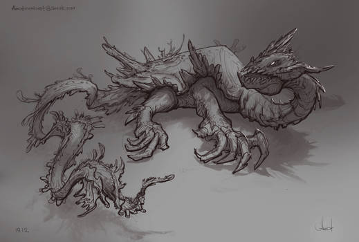 Sea Dragon sketch #4