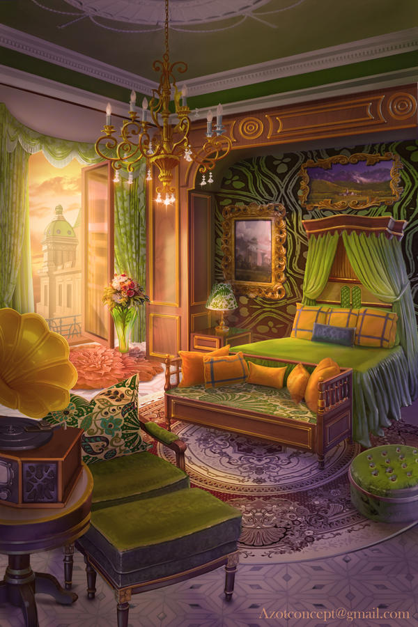 Castle Drawing Room: Bedroom In The Castle By Azot2017 On DeviantArt