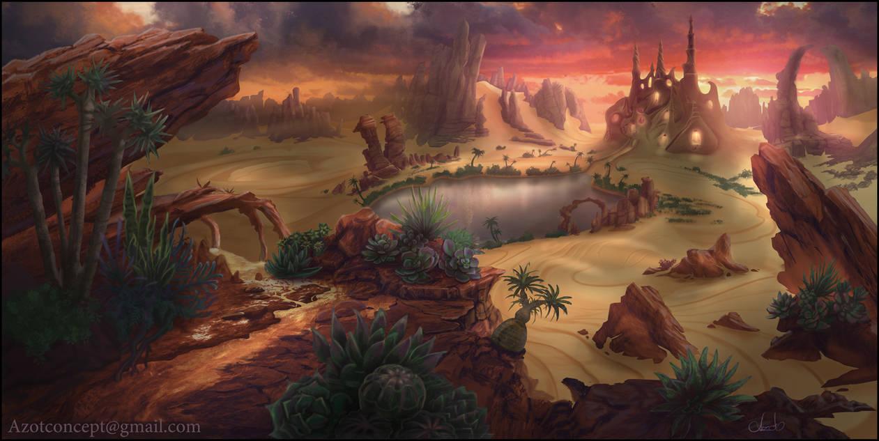 Desert Landscape by Azot2021