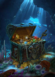 Pirate`s Chest with Treasure by Azot2019