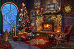 Christmas Interior by Azot2021