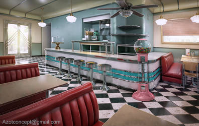 American Diner 1960s