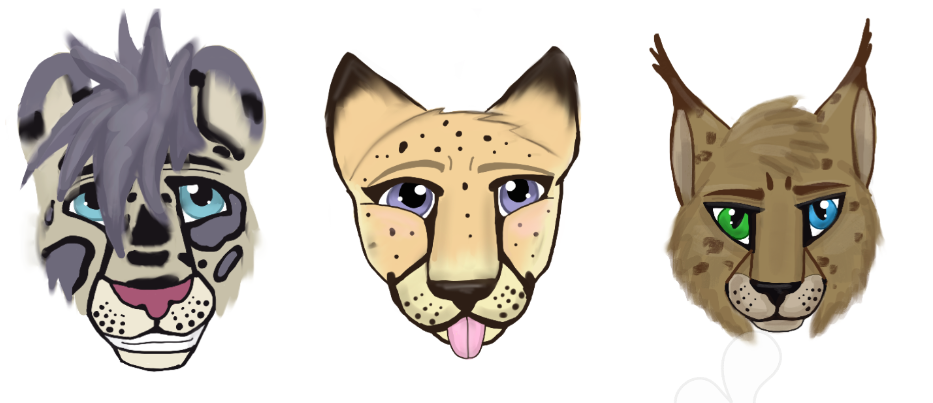 First 3 Portraits-Zircon, Altan, and BeaBea by WildlifeWorld