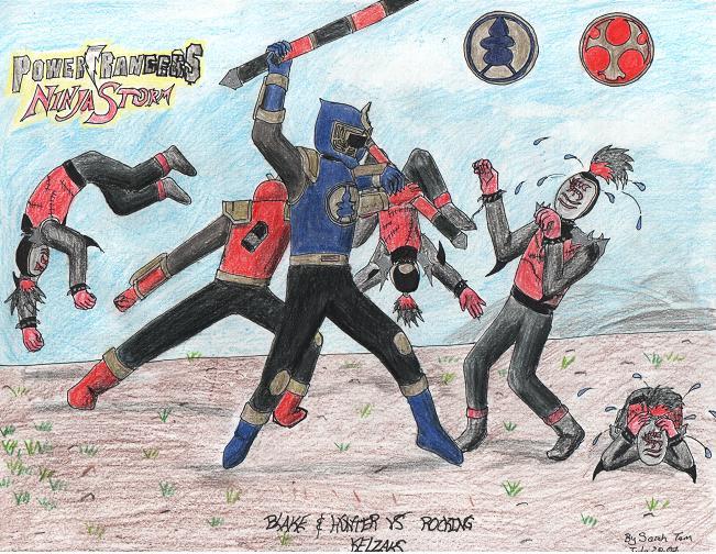 Thunder Rangers VS KELZAKS by RiaStrifeChan on DeviantArt