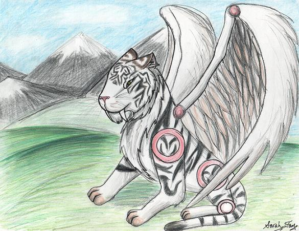 Cyber Tiger on Wings by RiaStrifeChan