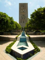 Le Tour Hassan et le jardins