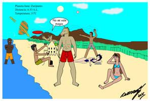 Art-jam Playa Ponyman y sus agentes