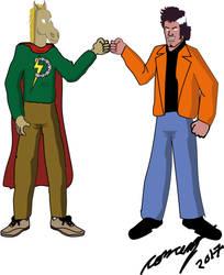 El pantera vs Ponyman by Goncen