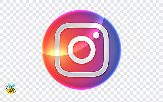 Glossy Instagram Icon PNG