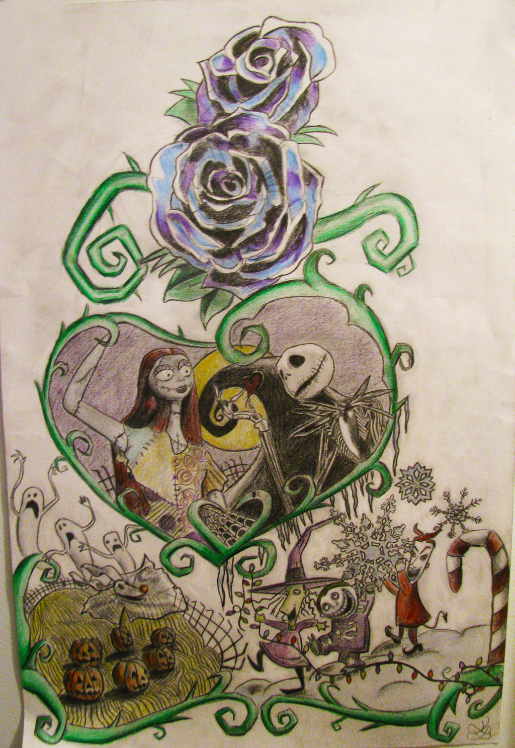 A Nightmare Before Christmas tattoo design by katieluse on DeviantArt