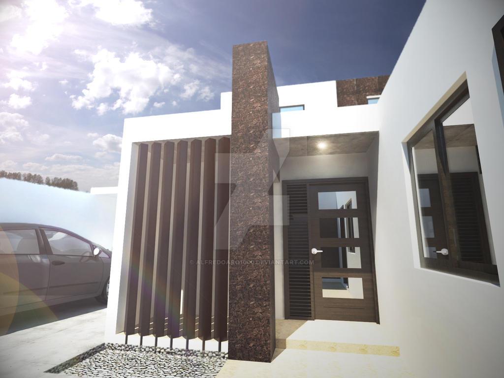 Fachada Casa Ing.ed by alfredoarq1000