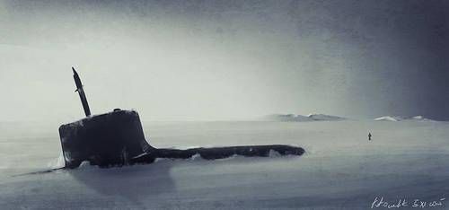 Submarine speed painting