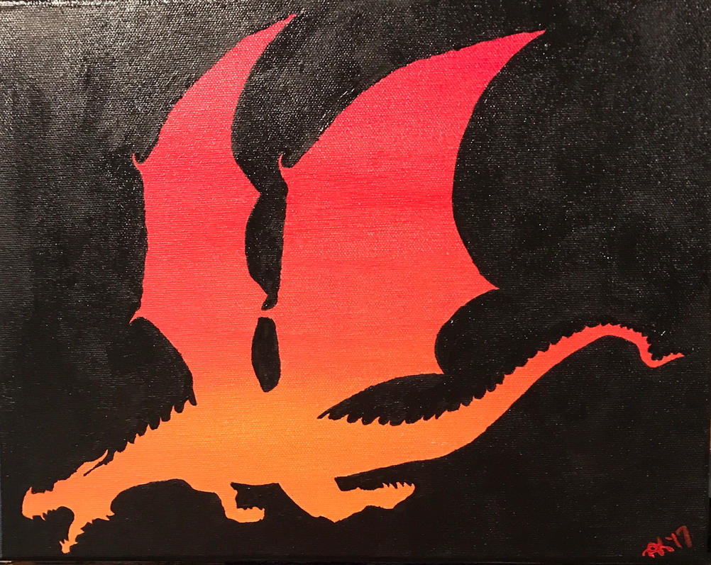 Sunset dragon  by Alycat