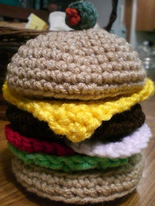 Amigurumi Cheeseburger by Slowdance-Romance