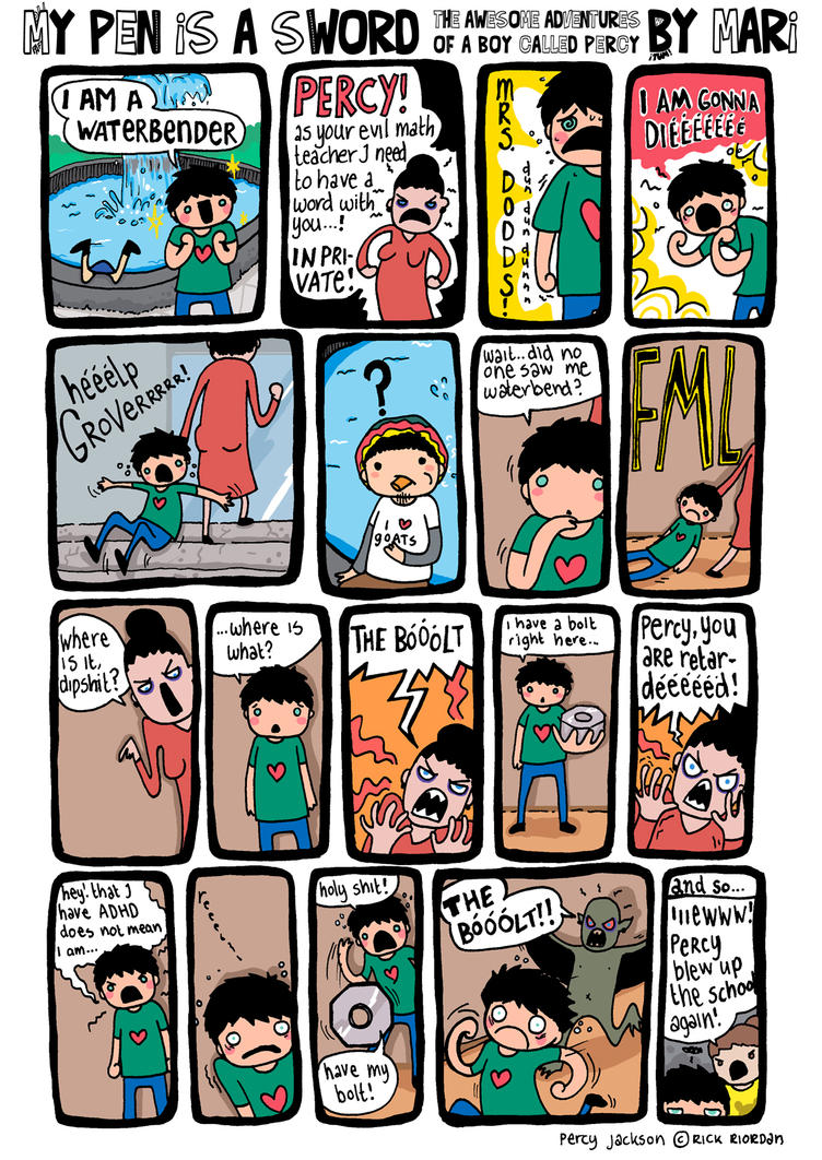 My Sword Is a Pen Percy Jackson Comics