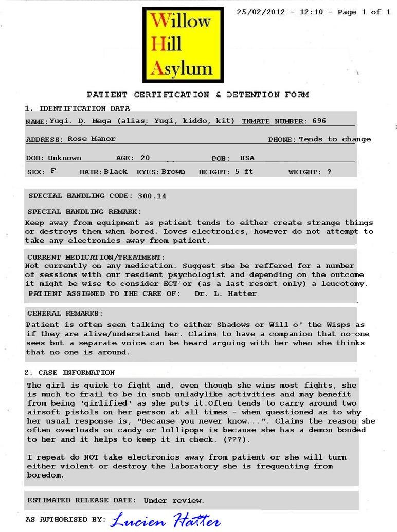 Yugi Certified by Willow Hill Asylum by krazykez