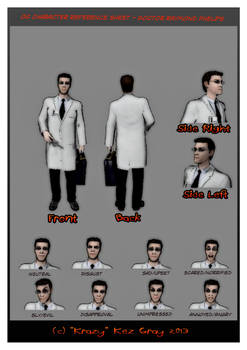 OC Character Ref Sheet for Doctor Raymond Phelps