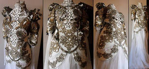 white armor gown
