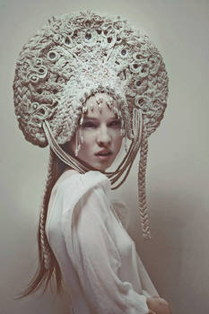 white evil (headpiece)