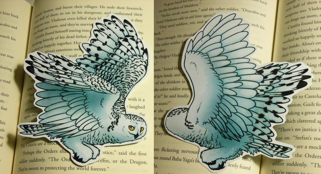 Snowy Owl Bookmark by Octobertiger