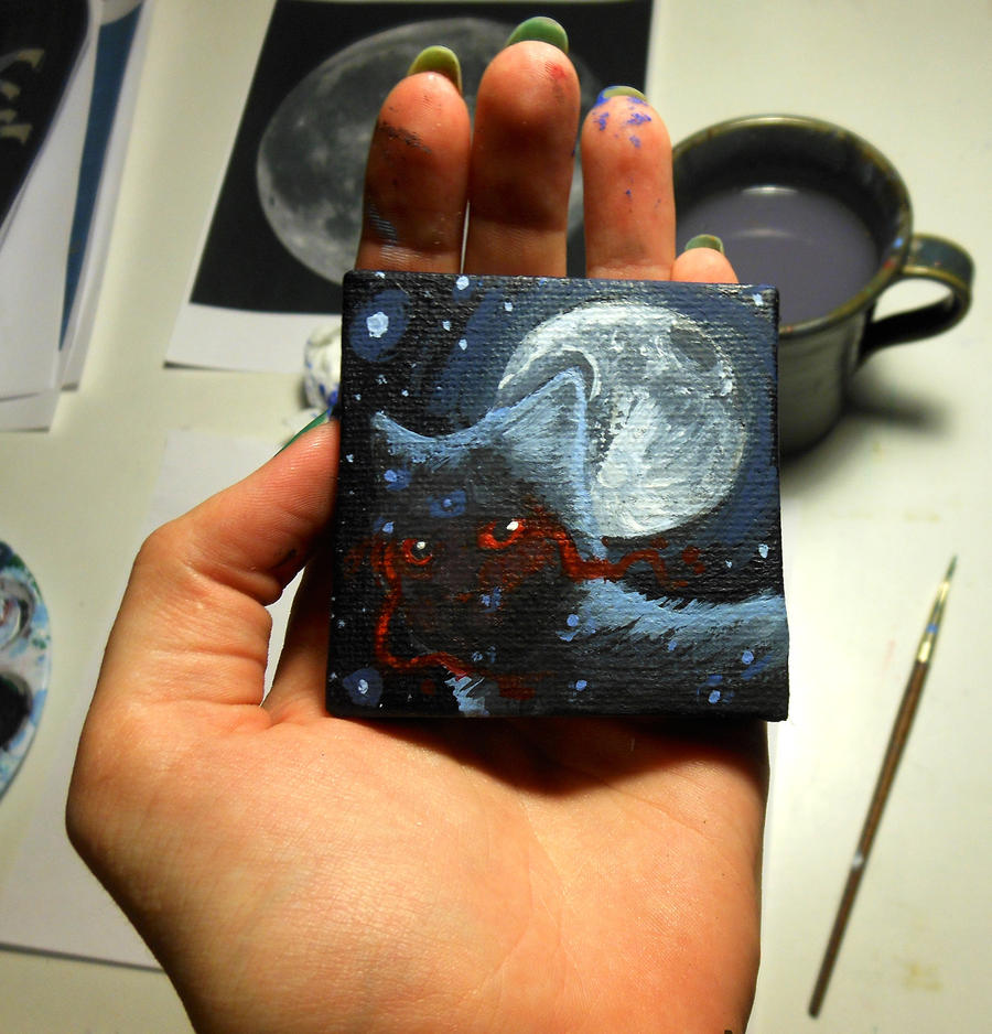 Ossiekins Mini Painting by Octobertiger