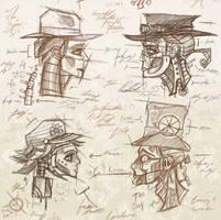 Robot Facial Facade Concepts by BunnyBennett