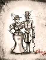 Steampunk Couple by BunnyBennett