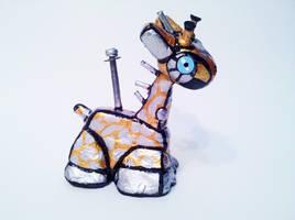 Giraffe Sculpture 1 Venti by BunnyBennett