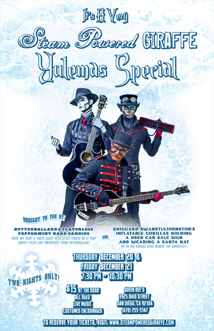 Steam Powered Giraffe Yulemas Special by BunnyBennett