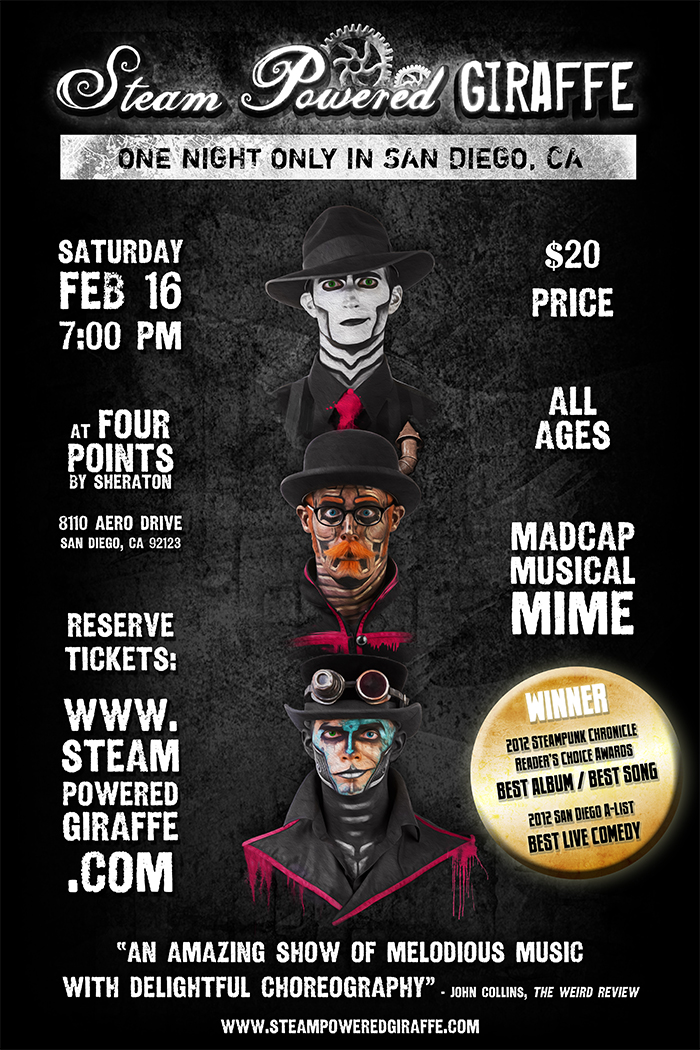 Steam Powered Giraffe At Four Points by BunnyBennett