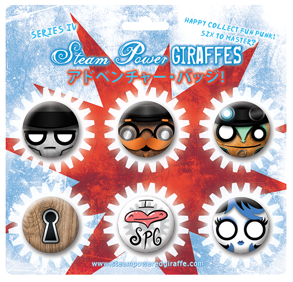 Steam Powered Giraffe Buttons Series IV by BunnyBennett