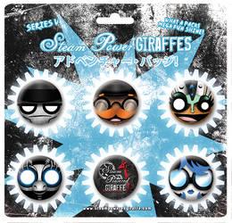 Steam Powered Giraffe Buttons Series V by BunnyBennett