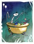 Bathtub Skeleton