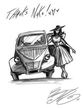 Doodle - Rabbit and Car
