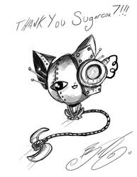Doodle - Robot Kitty by BunnyBennett