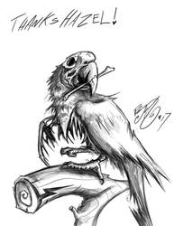 Doodle- Undead Parrot by BunnyBennett