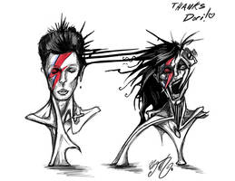Doodle- Bowie and Rabbit