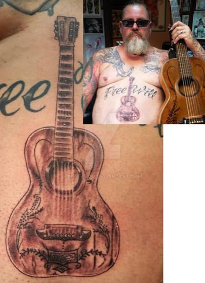 Doug's Guitar Tattoo by Mr-Taboo